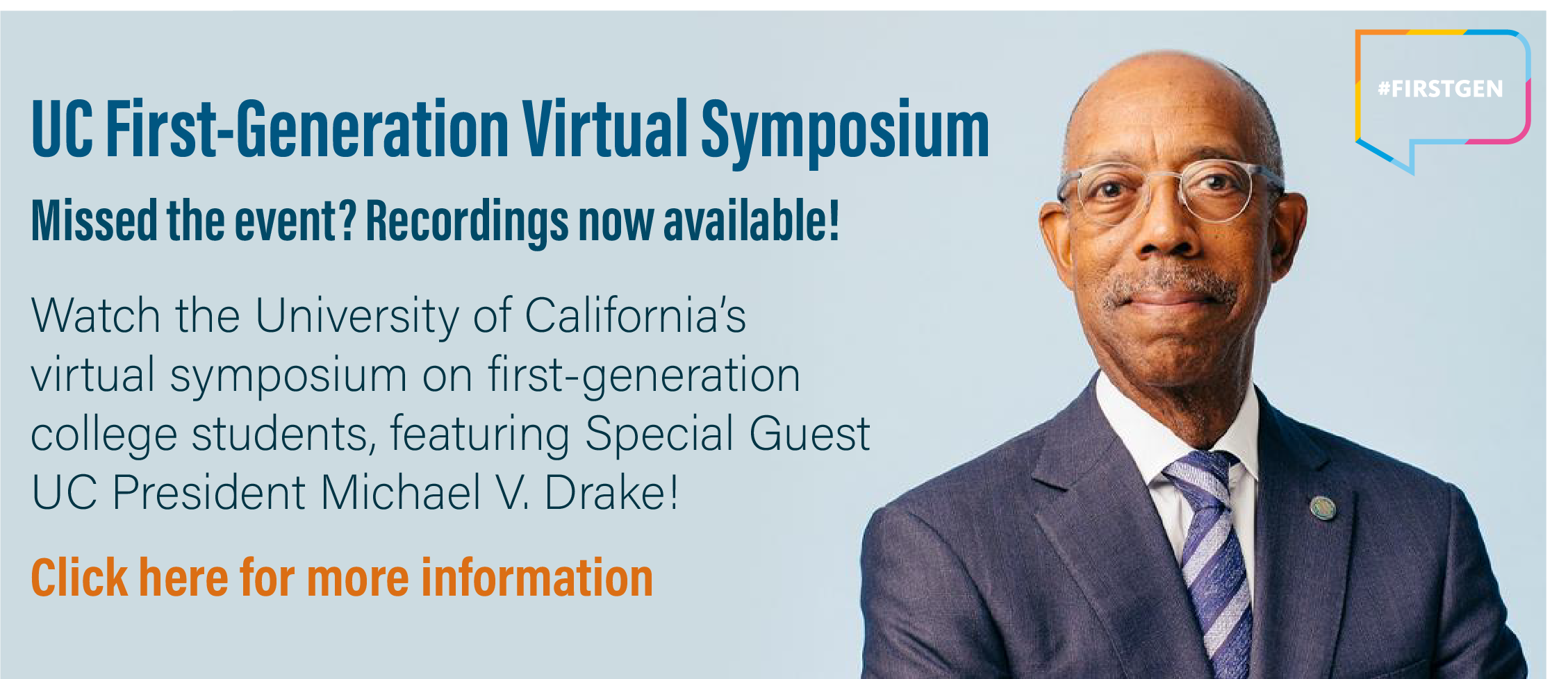 First-Gen Virtual Symposium - Session Recordings Now Available